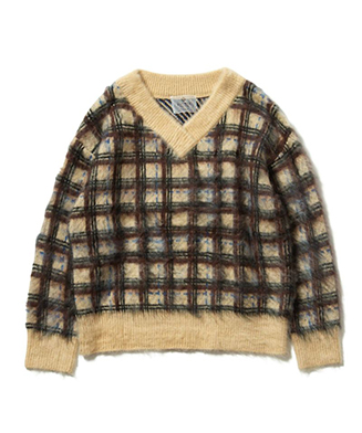LY19WT / KNT01 : Cell check knit