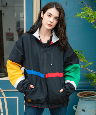 GB0120 / JKT03 : Retro sports nylon JKT