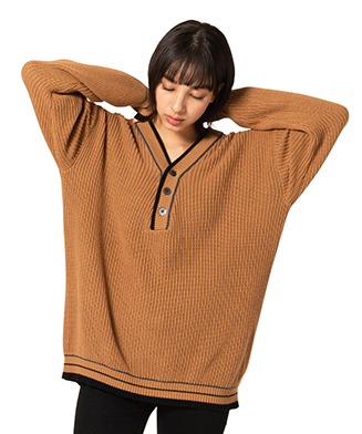 GB0120 / KNT02 : Oversize tilden knit