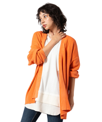 GB0220 / KNT05 : Washed color cardigan