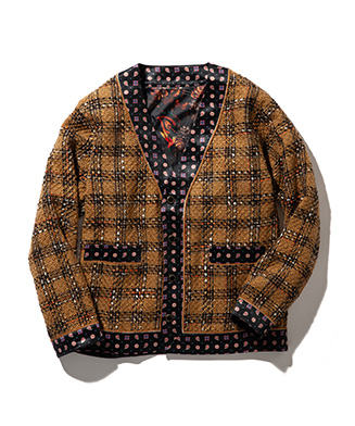 GB0320 / KNT02 : Fancy tweed JKT
