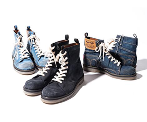GB0420 / AC11 : Slinky denim boots