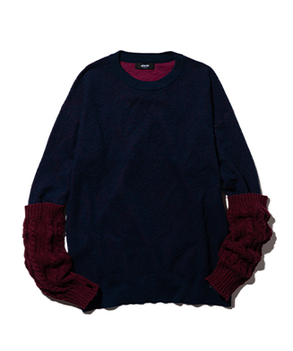 GB0121 / KNT07 : Baroque layered sleeves knit