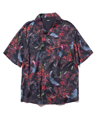 GB0321 / SH02 : Flower feather open collar SH / フラワーフェザーオープンカラーシャツ